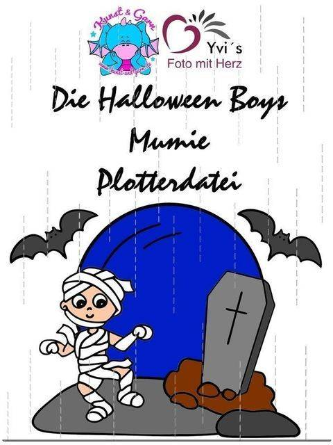 Plotterdatei HalloweenBoys Mumien bei Makerist sofort runterladen