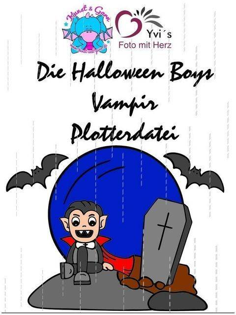 Plotterdatei HalloweenBoys Vampire bei Makerist sofort runterladen