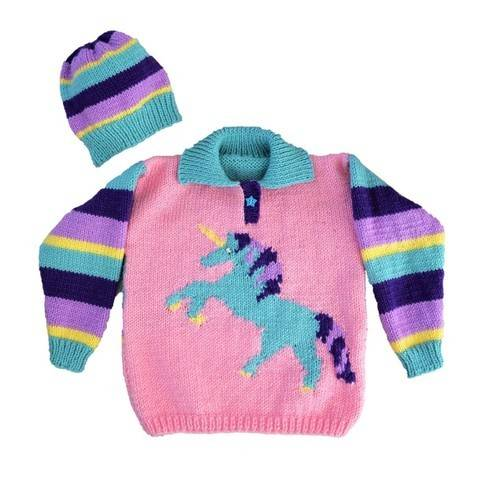 Download Unicorn Sweater and Hat immediately at Makerist