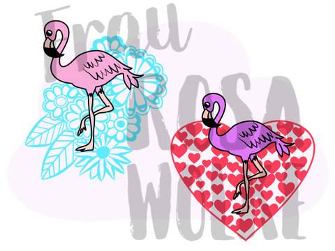 Flamingotime und Flamingoheart von Frau Rosa Wolke bei Makerist sofort runterladen
