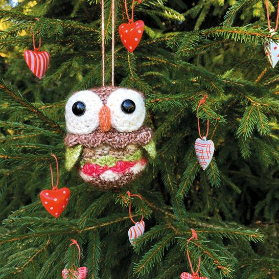 Weihnachtskugel Schuhu das Eulenkind - Häkelanleitung  - Häkelanleitungen bei Makerist sofort runterladen