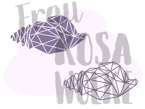 Muschel aus der Geoserie von Frau Rosa Wolke bei Makerist sofort runterladen