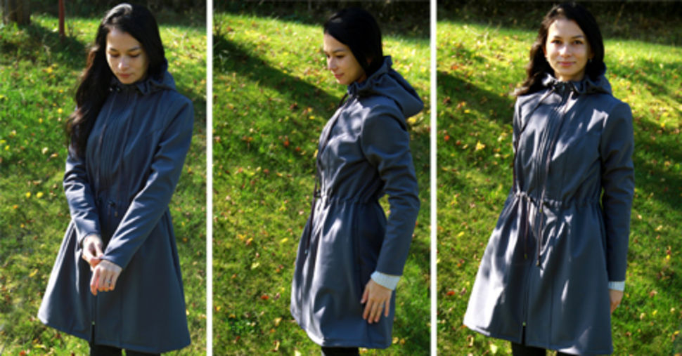 Download Ladies coat pattern with step-by-step tutorial - Sewing Patterns immediately at Makerist