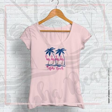 Plotterdatei FLAMINGO ALOHA BEACH bei Makerist sofort runterladen