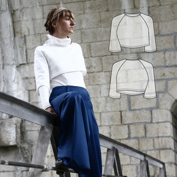 Download Nivis - crop top // Sewing pattern and step-by-step instructions by Wearologie - Sewing Patterns immediately at Makerist
