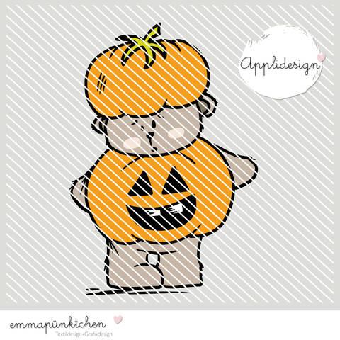 emmapünktchen ® - applikationsvorlage halloweenbär bei Makerist sofort runterladen
