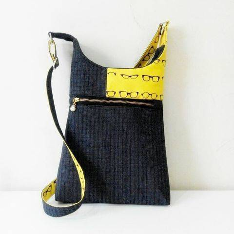 Download Cross body Bag pattern Casual style immediately at Makerist