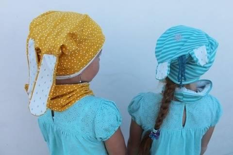 Beanie Loop Mütze UNICORN RABBIT Gr. 50-56 Kinder bei Makerist sofort runterladen