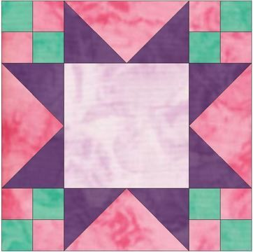 Download Frayed Sawtooth Frame 10 Inch Paper Piece Foundation Pattern - Patchwork & Quilting immediately at Makerist