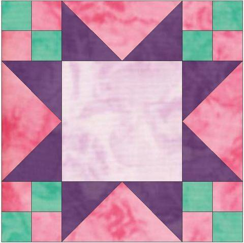Download Frayed Sawtooth Frame 10 Inch Paper Piece Foundation Pattern immediately at Makerist