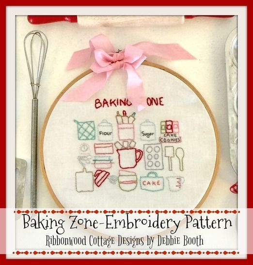 Download Baking Zone Embroidery Hoop Art Pattern 6 inch hoop - Embroidery Patterns immediately at Makerist