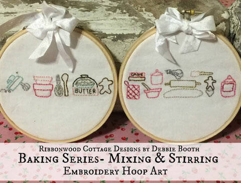 Download Embroidery pattern Baking Series - Mixing and Stirring 2 Hoop Art immediately at Makerist