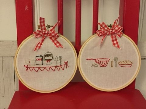 Download Embroidery pattern Baking Series  - 2nd part Mixing and Stirring  Hoop Art - Embroidery Patterns immediately at Makerist