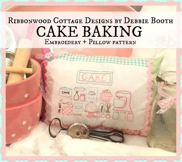 Download Cake Baking Embroidery Pattern - Embroidery Patterns immediately at Makerist