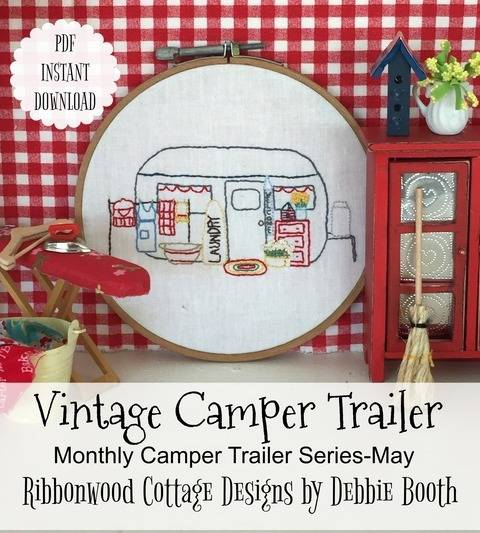 Download May Vintage Camper Trailer Embroidery Monthly Series immediately at Makerist