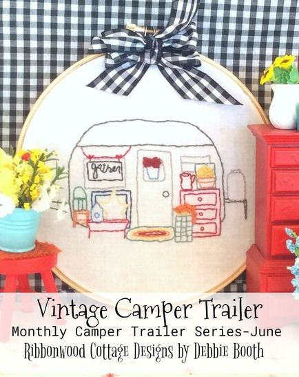 Download June Vintage Camper Trailer Embroidery  - Embroidery Patterns immediately at Makerist