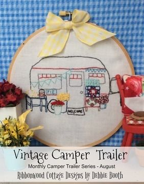Download August Vintage Camper Trailer Embroidery Pattern - Embroidery Patterns immediately at Makerist