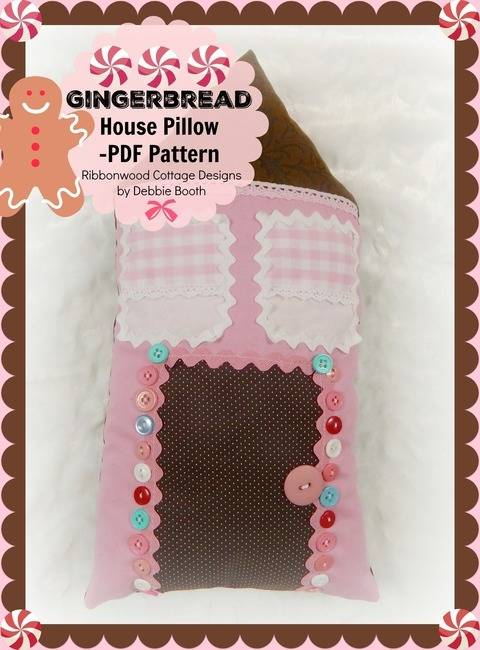 Download Gingerbread House Pillow immediately at Makerist