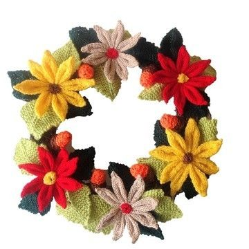 Download A Merry Christmas Wreath - Knitting Patterns immediately at Makerist