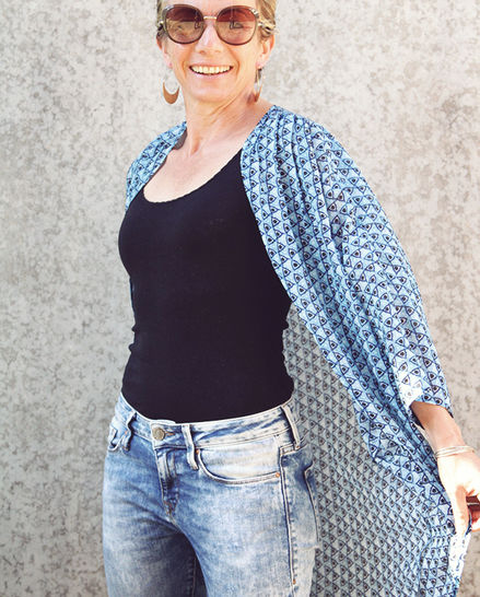 Download Kimono - relaxed style cardigan for women - Sewing Patterns immediately at Makerist