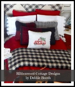 Download Sewing Pattern Miniature Christmas Rustic Winter Dollhouse Bedding Pattern PDF -1:12 scale - Sewing Patterns immediately at Makerist