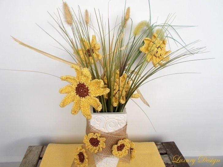 Sonnenblumen Sommertraum Design No.5 - Häkelanleitungen bei Makerist sofort runterladen