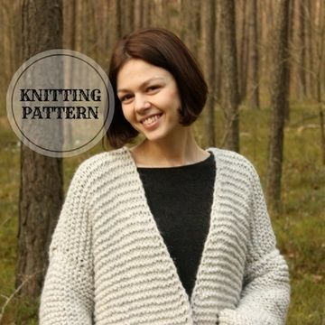 Download Plus Size Chunky Cardigan - Knitting Pattern - Knitting Patterns immediately at Makerist