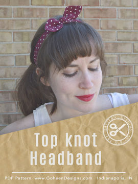 Download Retro Top Knot Headband - Sewing Pattern and Tutorial - Sewing Patterns immediately at Makerist