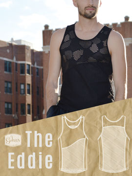 Download The Eddie - Men's Workout Tank - Downloadable PDF Sewing Pattern and Tutorial - Sewing Patterns immediately at Makerist