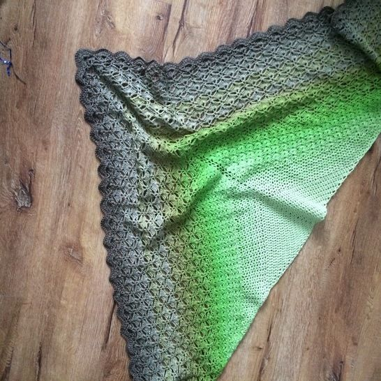 Crochet Shawl Pattern Through The Pinewoods