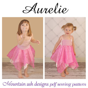 Download Aurelie Fairy Dress Sewing Pattern in Girls Sizes 1-10 - Sewing Patterns immediately at Makerist