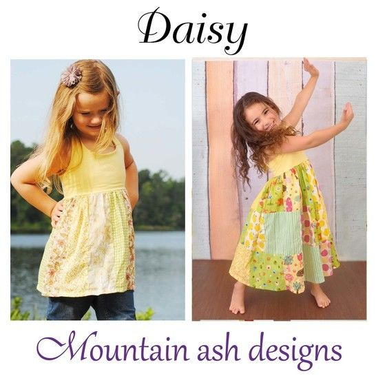 Download Daisy Halter Neck Patchwork Dress Sewing Pattern in Girls Sizes 1-10 - Sewing Patterns immediately at Makerist