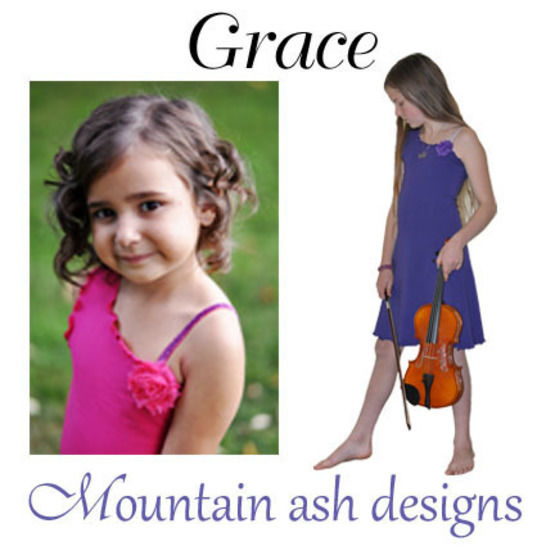 Download Grace Dress with Asymmetrical Neckline Sewing Pattern in Girls Sizes 2-14 - Sewing Patterns immediately at Makerist