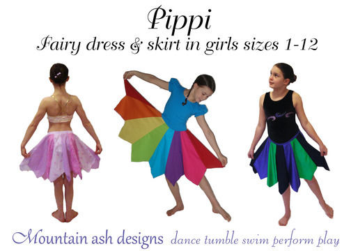 Download Pippi Pixie Dress and Skirt Sewing Pattern in Girls Sizes 1-12 - Sewing Patterns immediately at Makerist