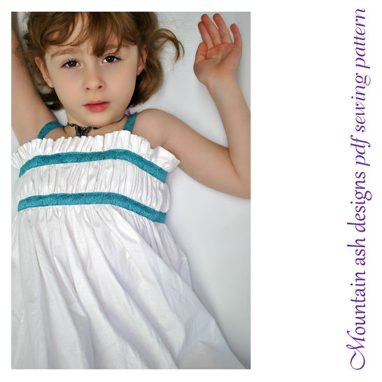 Download Sophia Sun Dress Sewing Pattern in Girls Sizes Newborn to 10 - Sewing Patterns immediately at Makerist