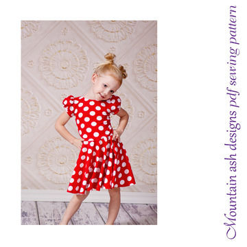 Download Storybook Dress Dance Costume Sewing Pattern in Girls Sizes 1-14 - Sewing Patterns immediately at Makerist