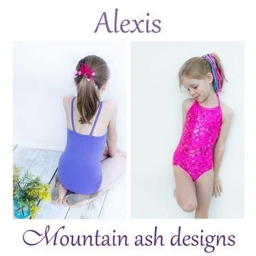 Download Alexis Swimsuit and Leotard Sewing Pattern in Girls Sizes 1-14 - Sewing Patterns immediately at Makerist