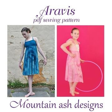 Download Aravis Leotard Dance Costume Pattern in Girls Sizes 2-14 - Sewing Patterns immediately at Makerist