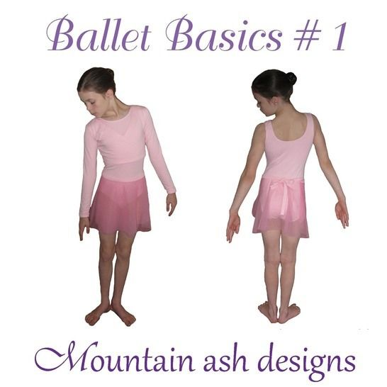 Download Ballet Basics 1 Wrap Top, Leotard & Skirt in Girls Sizes 1-14 - Sewing Patterns immediately at Makerist