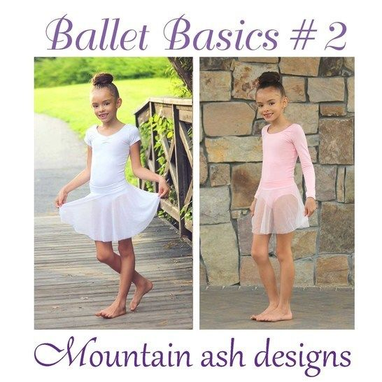 Download Ballet Basics 2 Leotard and Skirt in Girls Sizes 1-14 - Sewing Patterns immediately at Makerist