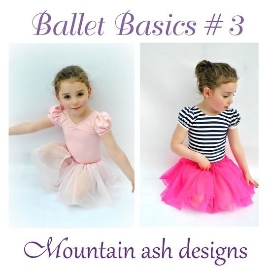 Download Ballet Basics 3 Leotard and Tutu Skirt in Girls Sizes 1-14 - Sewing Patterns immediately at Makerist