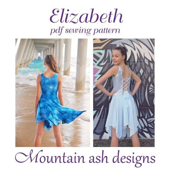 Download Elizabeth Dance Costume and Leotard in Girls Sizes 2-14 - Sewing Patterns immediately at Makerist