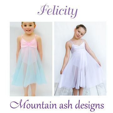 Download Felicity Dance Costume and Leotard in Girls Sizes 2-14 - Sewing Patterns immediately at Makerist