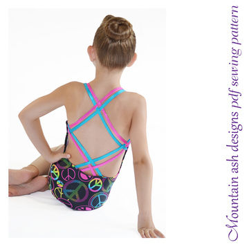Download Georgia Strappy Back Swimsuit and Leotard Sewing Pattern in Girls Sizes 2-14 - Sewing Patterns immediately at Makerist