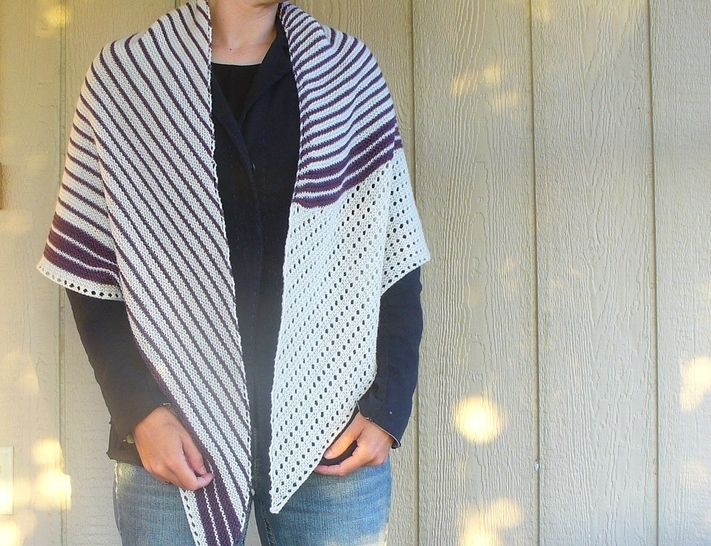 Download Veer shawl knitting pattern - Knitting Patterns immediately at Makerist