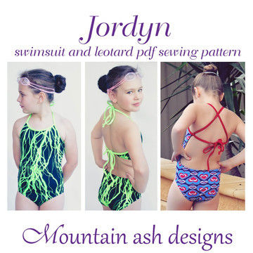 Download Jordyn Swimsuit and Leotard Sewing Pattern in Girls Sizes 2-14 - Sewing Patterns immediately at Makerist