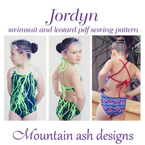 Download Jordyn Swimsuit and Leotard Sewing Pattern in Girls Sizes 2-14 immediately at Makerist