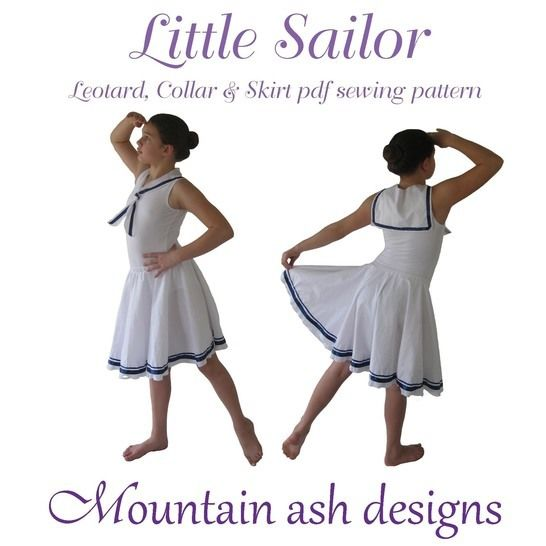 Download Little Sailor Dance Costume Sewing Pattern in Girls Sizes 2-14 - Sewing Patterns immediately at Makerist