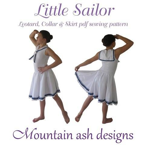 Download Little Sailor Dance Costume Sewing Pattern in Girls Sizes 2-14 immediately at Makerist