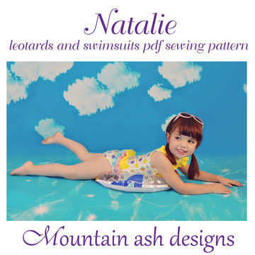 Download Natalie Ruffle Back Swimsuit and Leotard in Girls Sizes 2-14 - Sewing Patterns immediately at Makerist